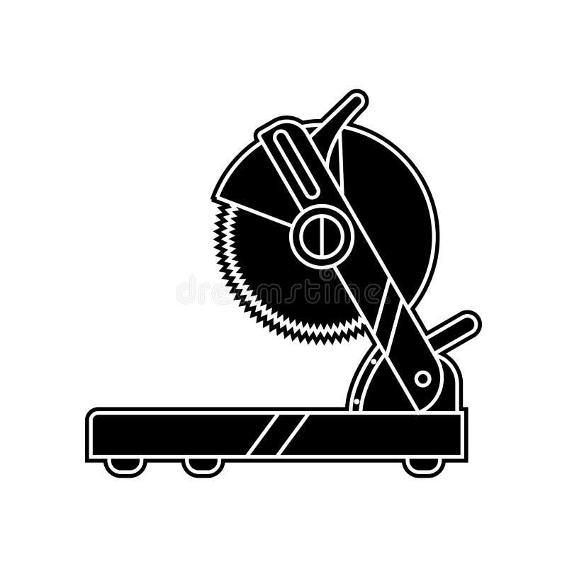 icona della sega della tavola Elemento dello strumento domestico di riparazione per il concetto e l'icona mobili dei apps di web  illustrazione di stock
