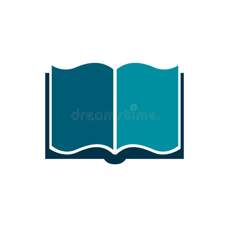 Icona della siluetta del libro, illustrazione di libro - vettore illustrazione vettoriale