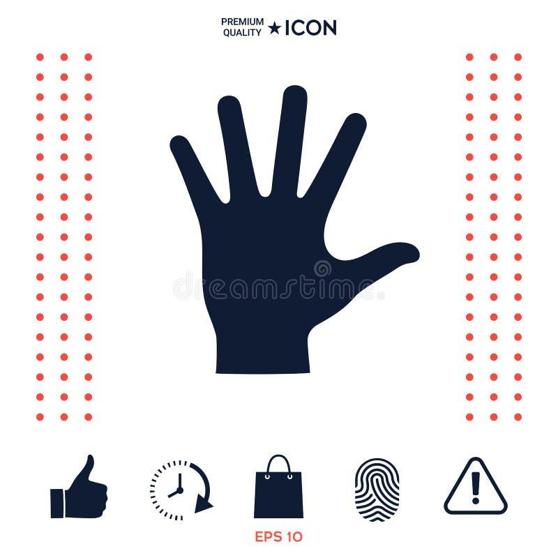 Download Icona Della Siluetta Della Mano Amica Illustrazione Vettoriale - Illustrazione di mano, comunicazione: 117975555