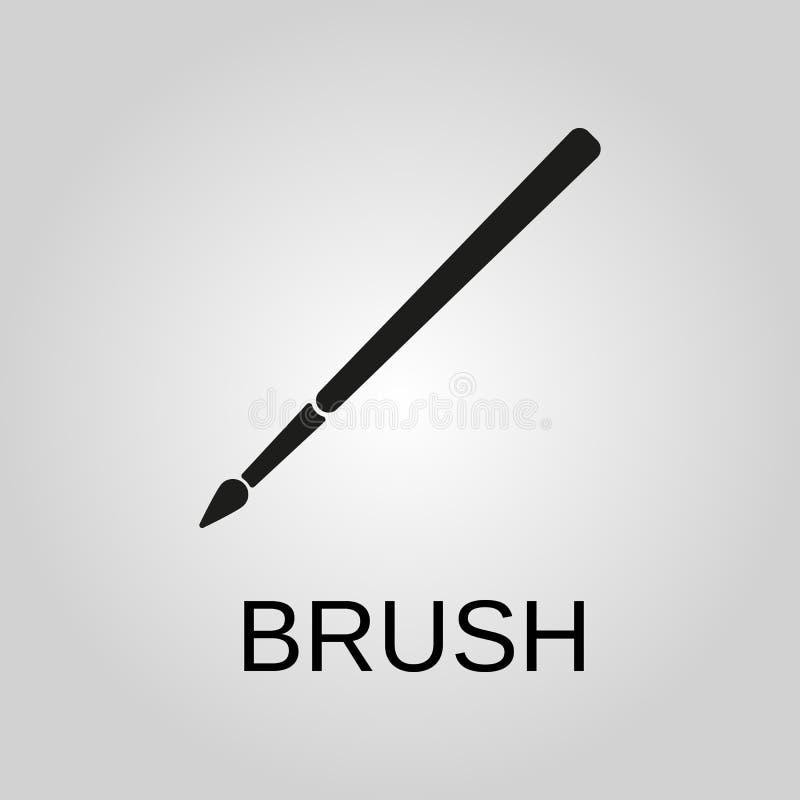 Icona della spazzola Simbolo della spazzola Progettazione piana Azione - illustrazione di vettore illustrazione di stock