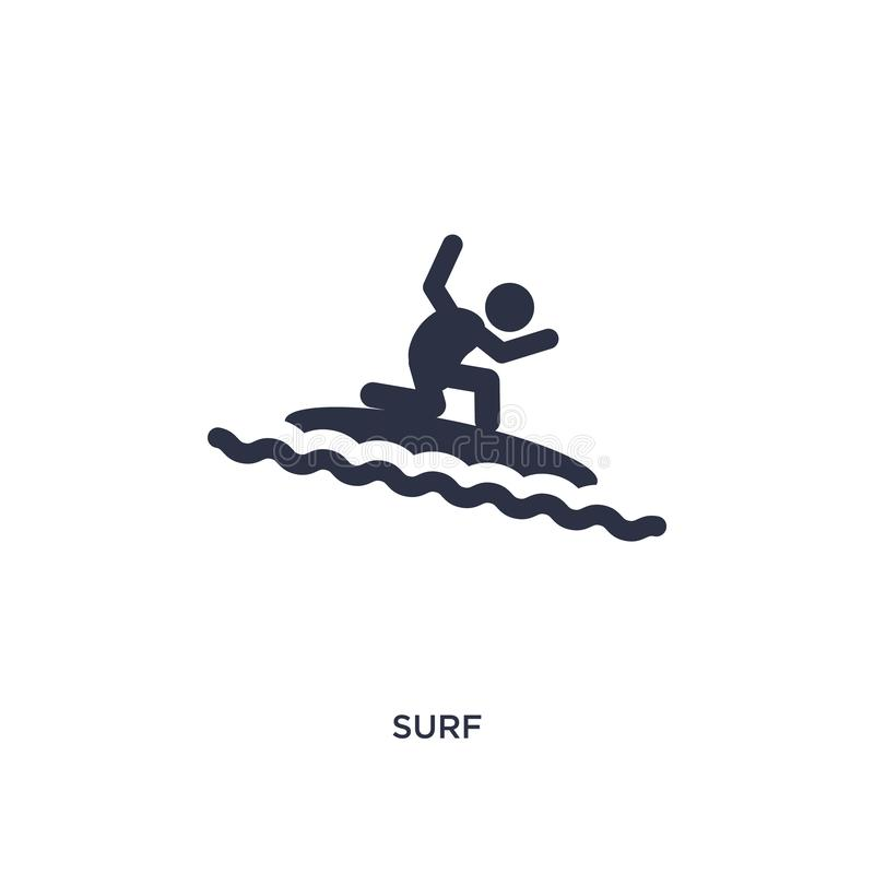 icona della spuma su fondo bianco Illustrazione semplice dell'elemento dal concetto di brazilia illustrazione di stock
