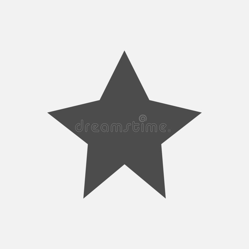 Icona della stella isolata su fondo bianco Illustrazione di vettore royalty illustrazione gratis