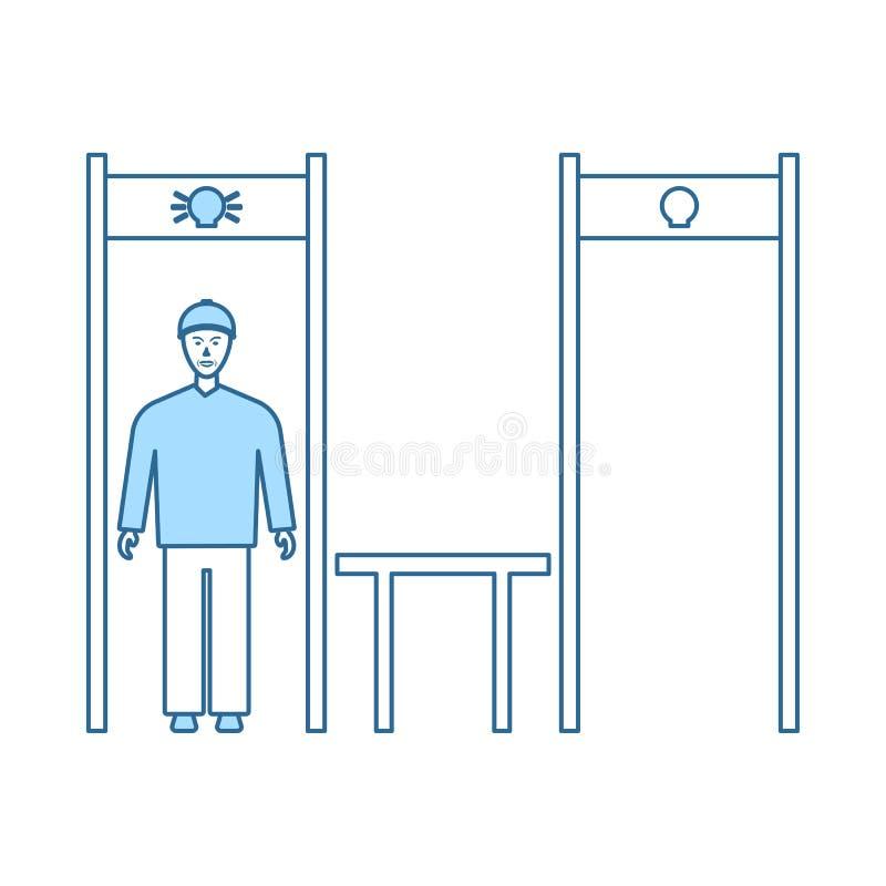 Icona della struttura del metal detector dello stadio royalty illustrazione gratis