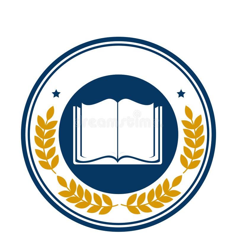 Icona della struttura dell'emblema della scuola royalty illustrazione gratis