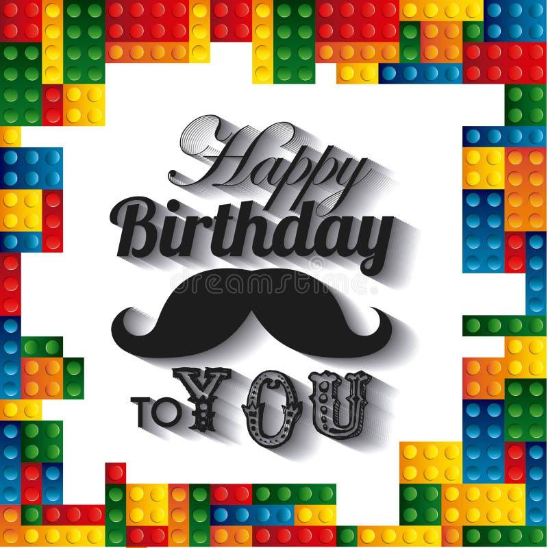 Assez Icona Della Struttura Di Lego Disegno Di Buon Compleanno Grafico  QZ49