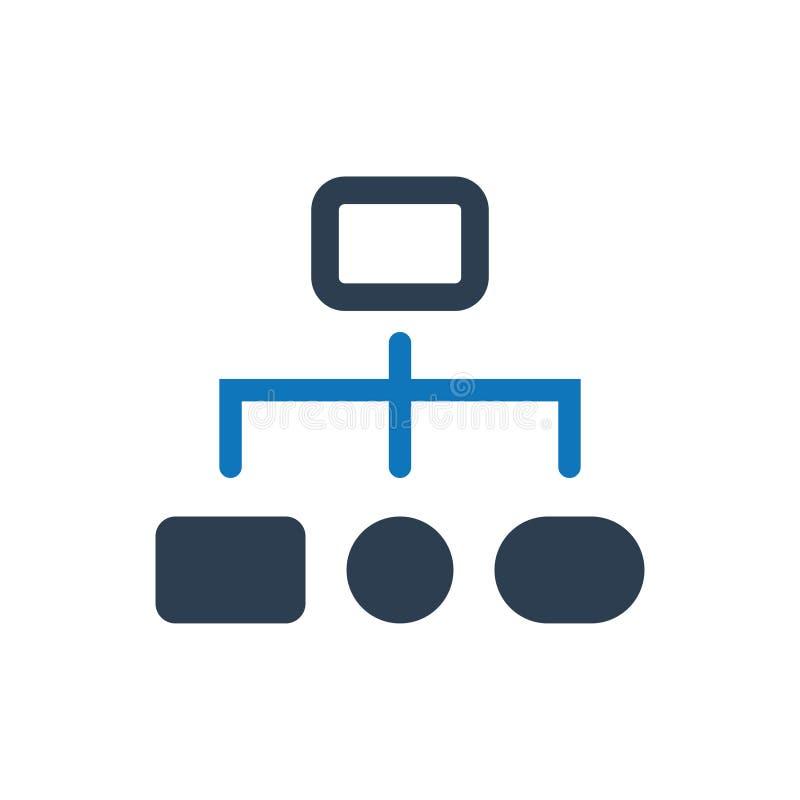 Icona della struttura gerarchica illustrazione vettoriale