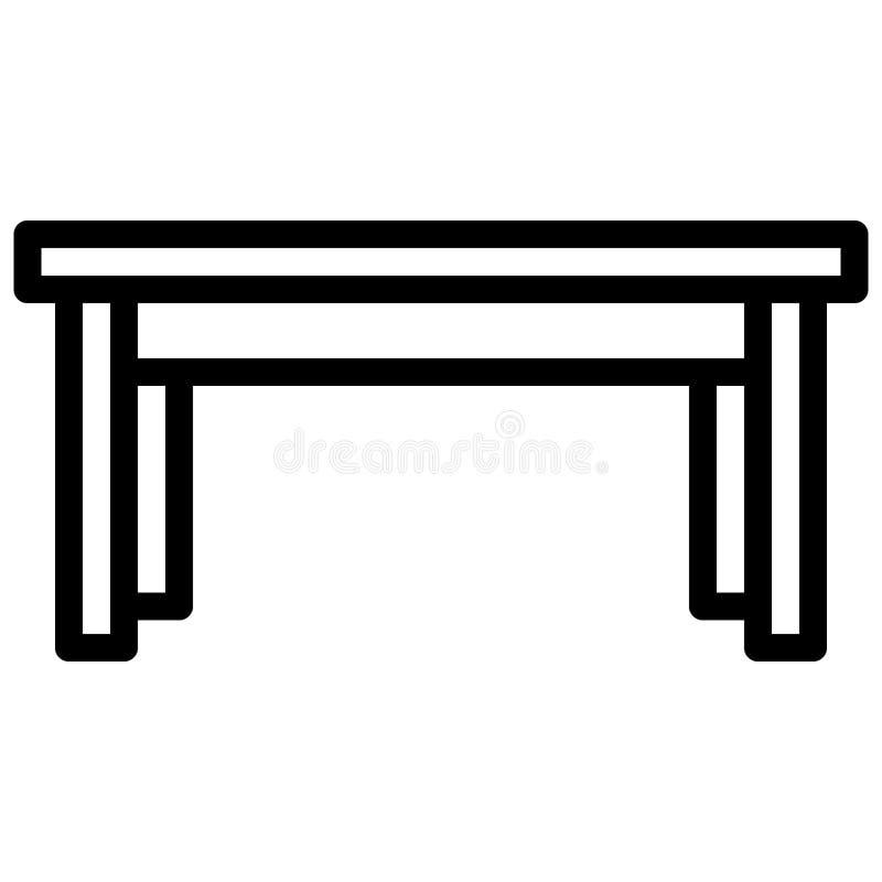 Icona della Tabella con stile del profilo Illustrazione di vettore eps10 illustrazione di stock