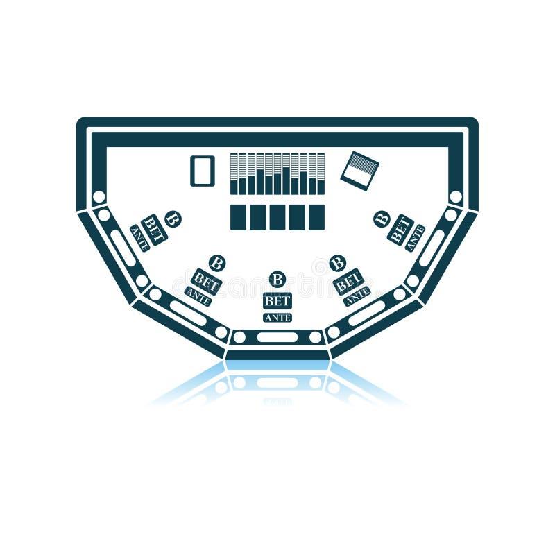 Icona della Tabella della mazza illustrazione vettoriale