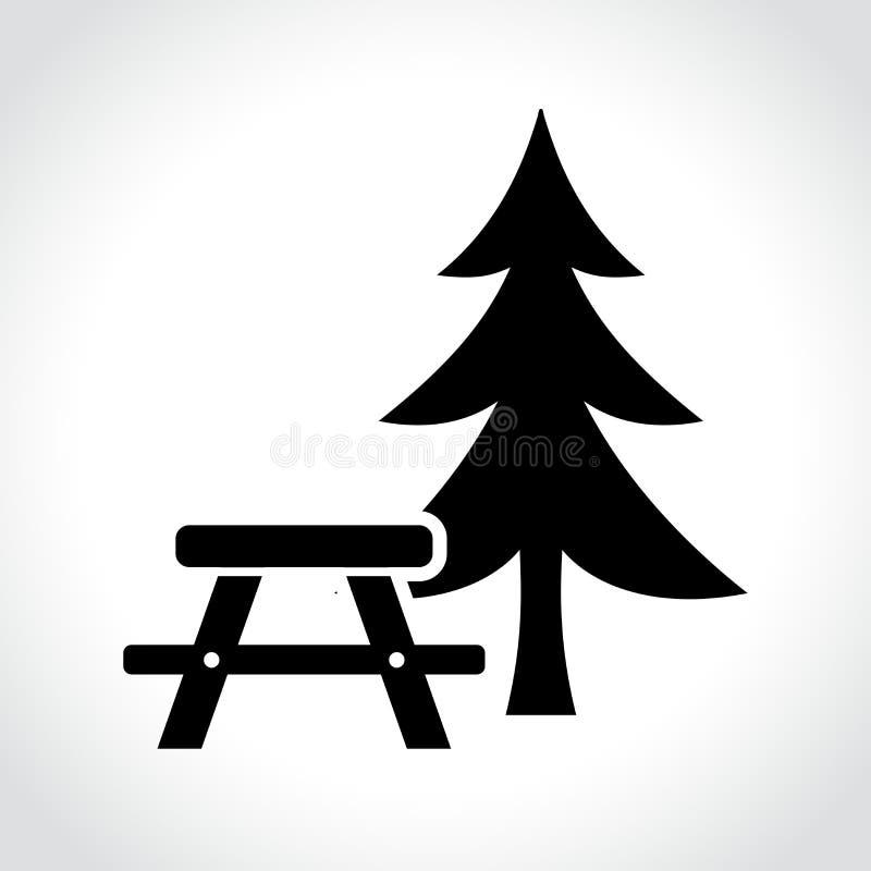 Icona della tavola di picnic illustrazione di stock