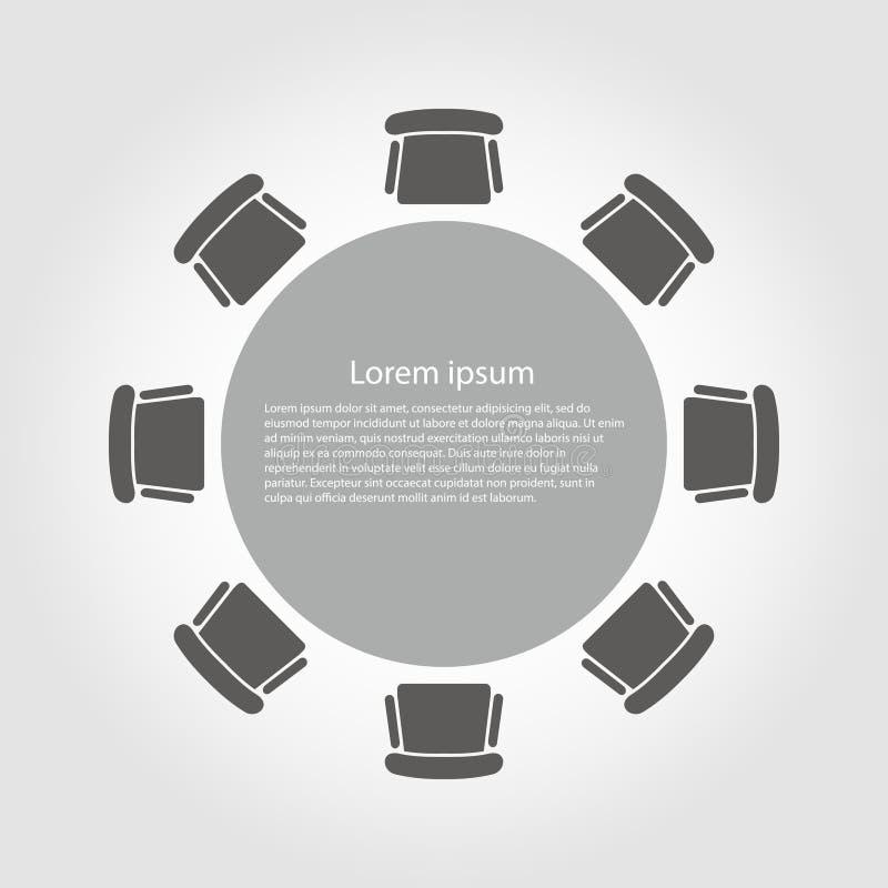 Icona della tavola rotonda di vettore illustrazione di stock