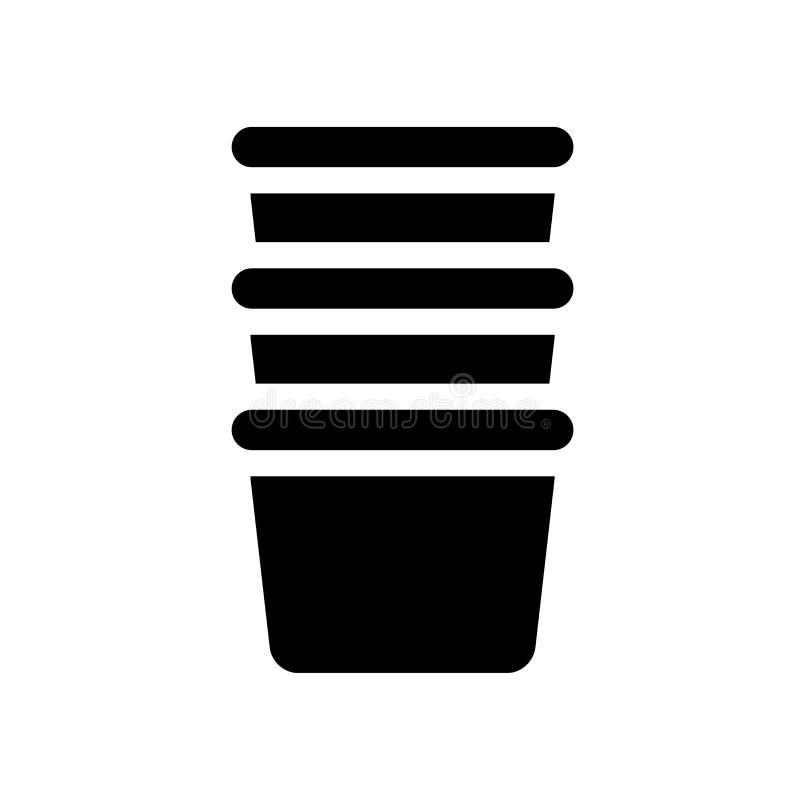 icona della tazza della crema  illustrazione di stock