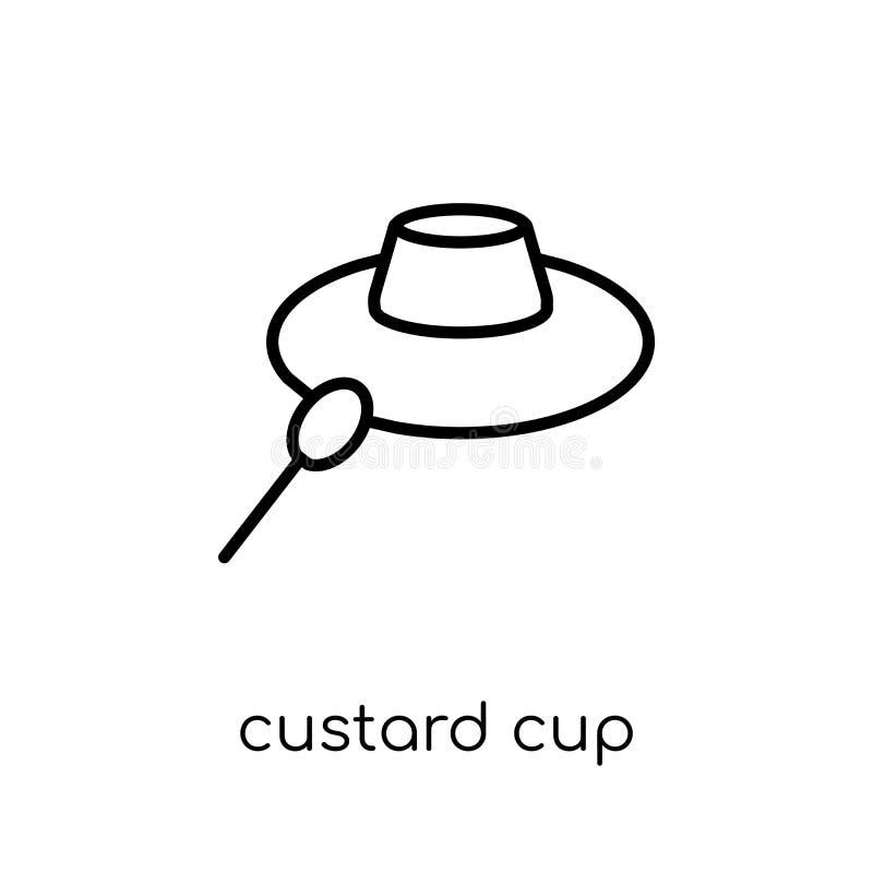 icona della tazza della crema dalla raccolta della cucina royalty illustrazione gratis