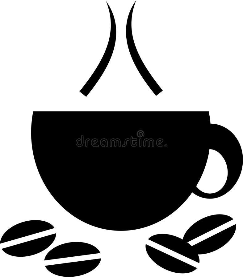 Icona della tazza di caffè illustrazione di stock