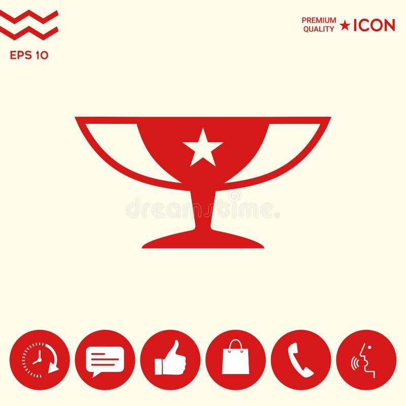 Download Icona Della Tazza Di Campioni Dei Premi Con La Stella Illustrazione Vettoriale - Illustrazione di evento, successo: 117982132