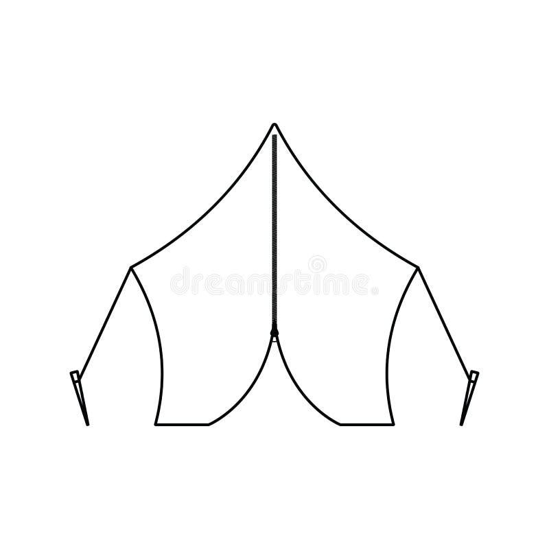 Icona della tenda turistica royalty illustrazione gratis