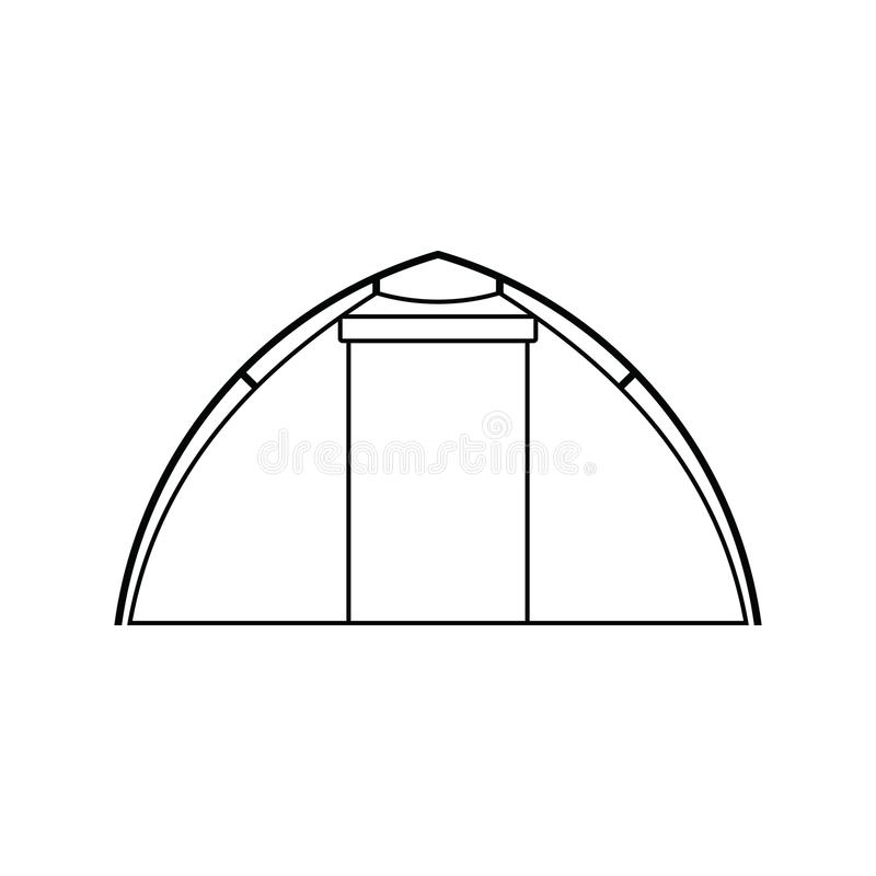 Icona della tenda turistica illustrazione vettoriale