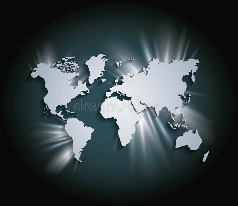 Icona della terra Progettazione della mappa e del mondo Grafico di vettore illustrazione di stock