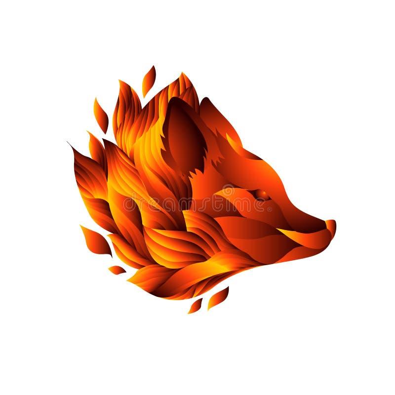 Icona della testa decorativa della volpe fotografia stock libera da diritti