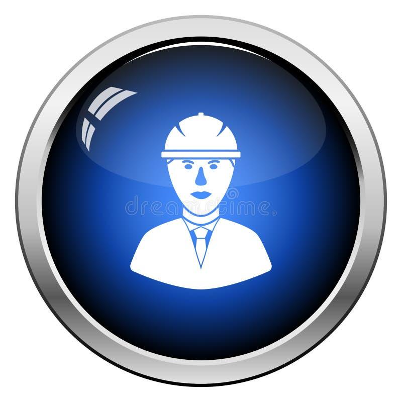 Icona della testa del muratore in casco illustrazione di stock