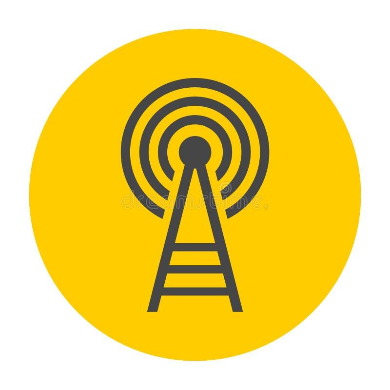 Icona della torre del trasmettitore illustrazione di stock