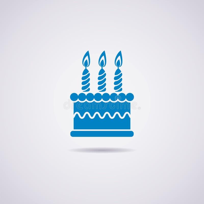 Icona della torta di compleanno illustrazione vettoriale