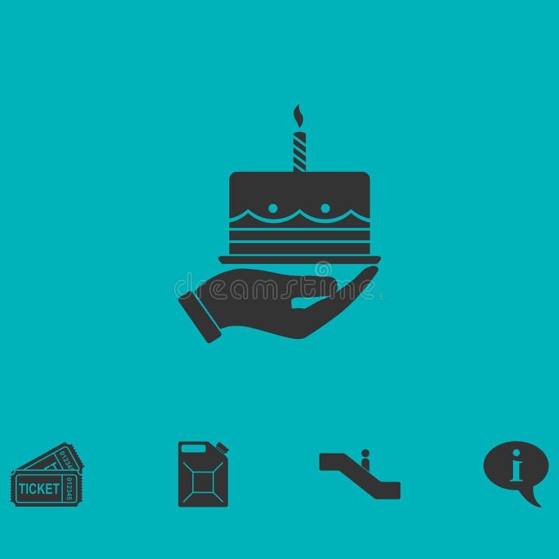 Icona della torta piana royalty illustrazione gratis