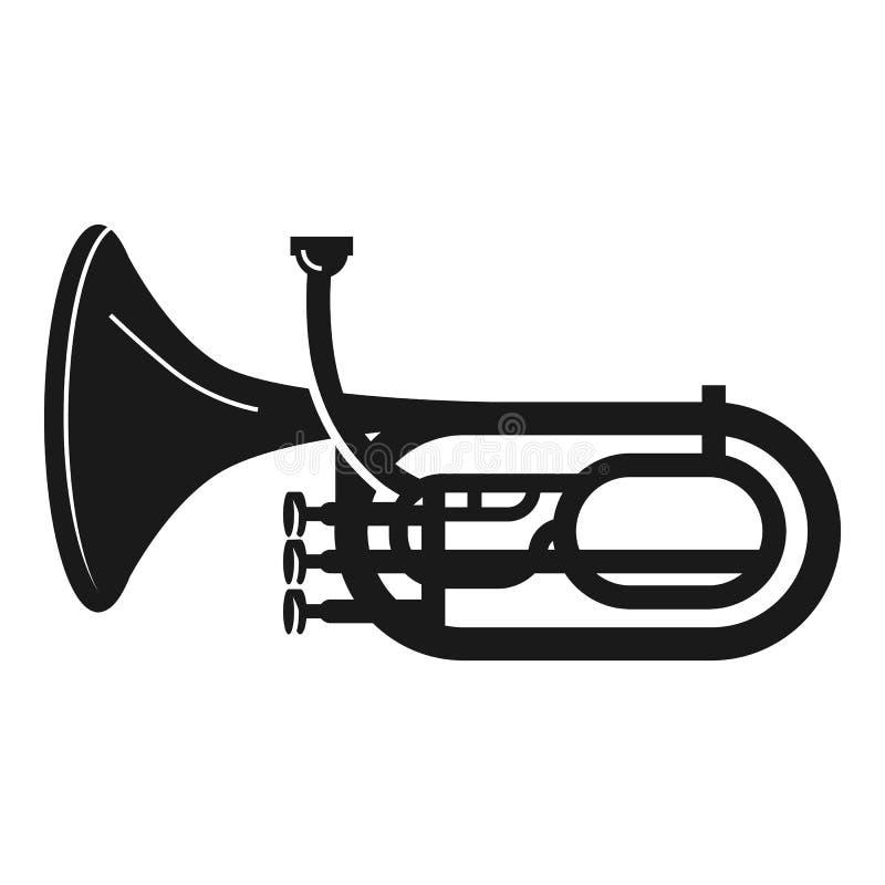 Icona della tromba dell'orchestra, stile semplice illustrazione vettoriale