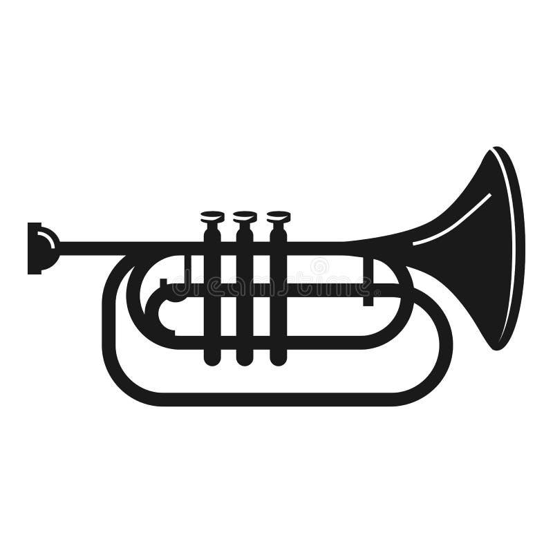 Icona della tromba di concerto, stile semplice illustrazione di stock