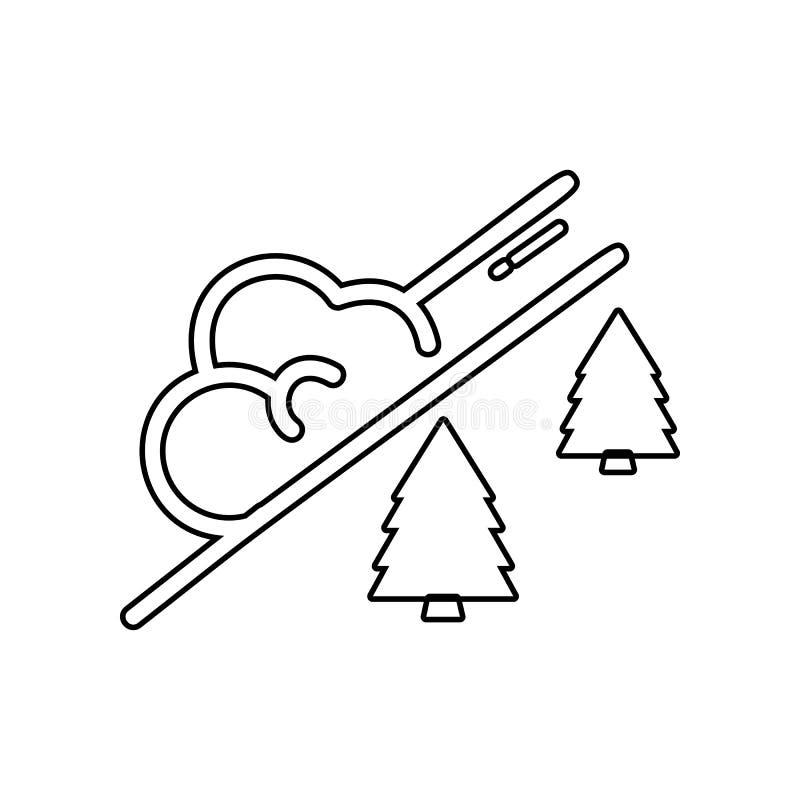 icona della valanga della neve Elemento dell'inverno per il concetto e l'icona mobili dei apps di web _profilo, sottile linea ico illustrazione vettoriale
