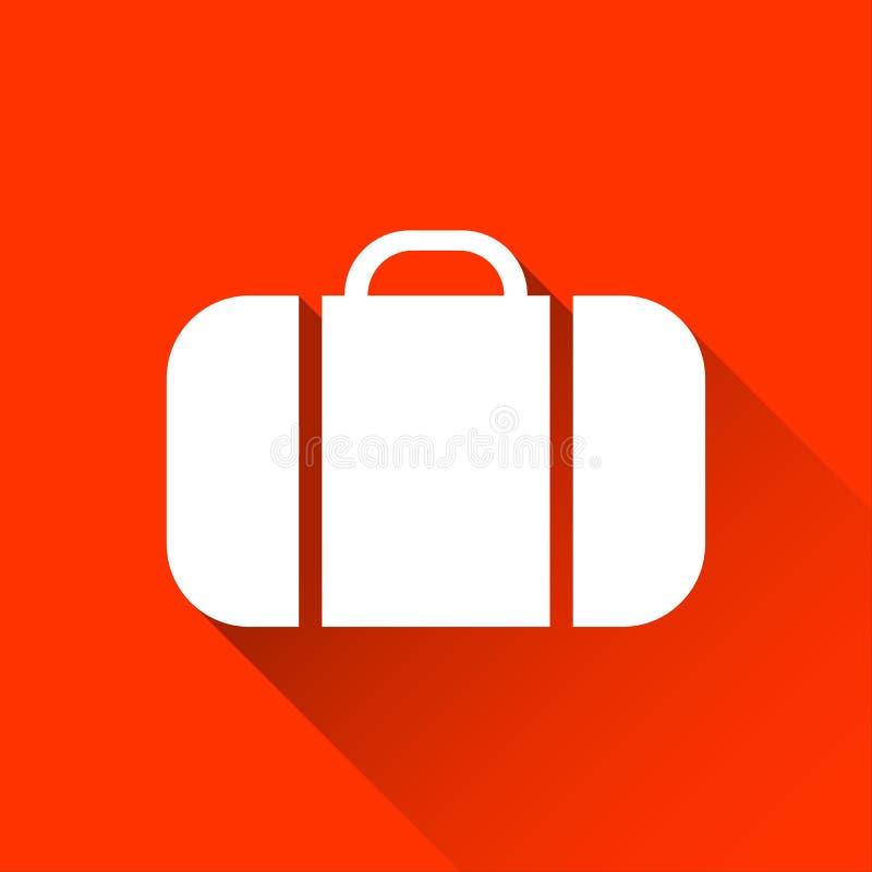 Icona della valigia, viaggio e simbolo semplici di festa illustrazione di stock