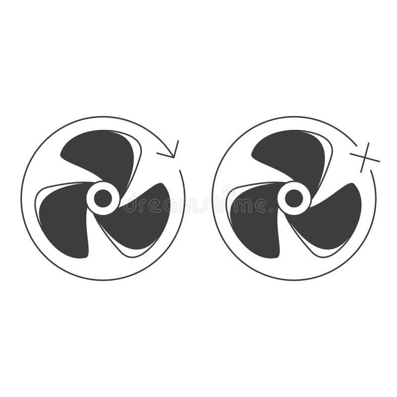 Icona della ventola assiale illustrazione di stock