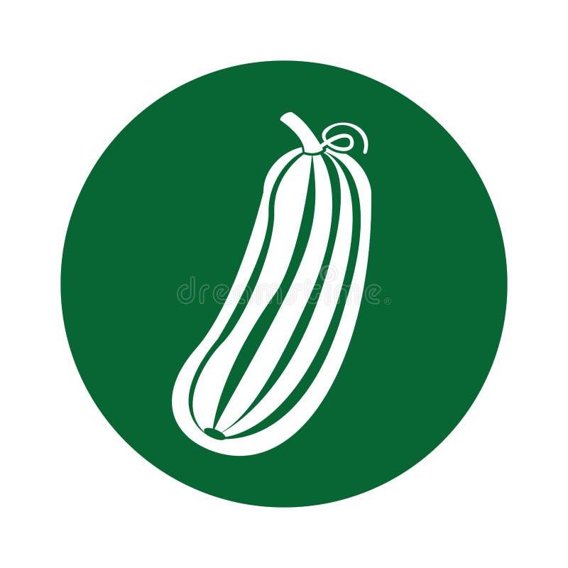 Icona della verdura fresca del cetriolo illustrazione di stock