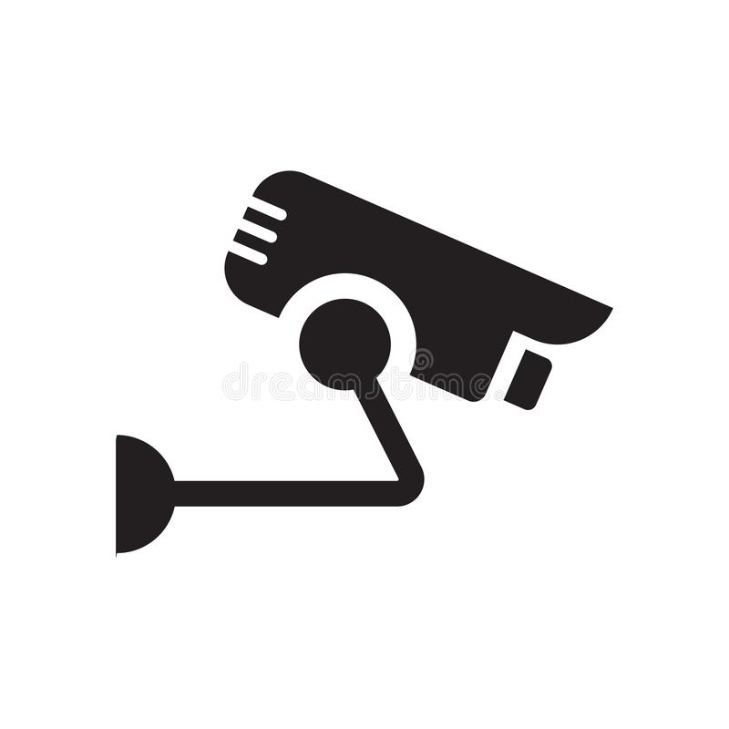 Icona della videocamera di sicurezza  illustrazione vettoriale