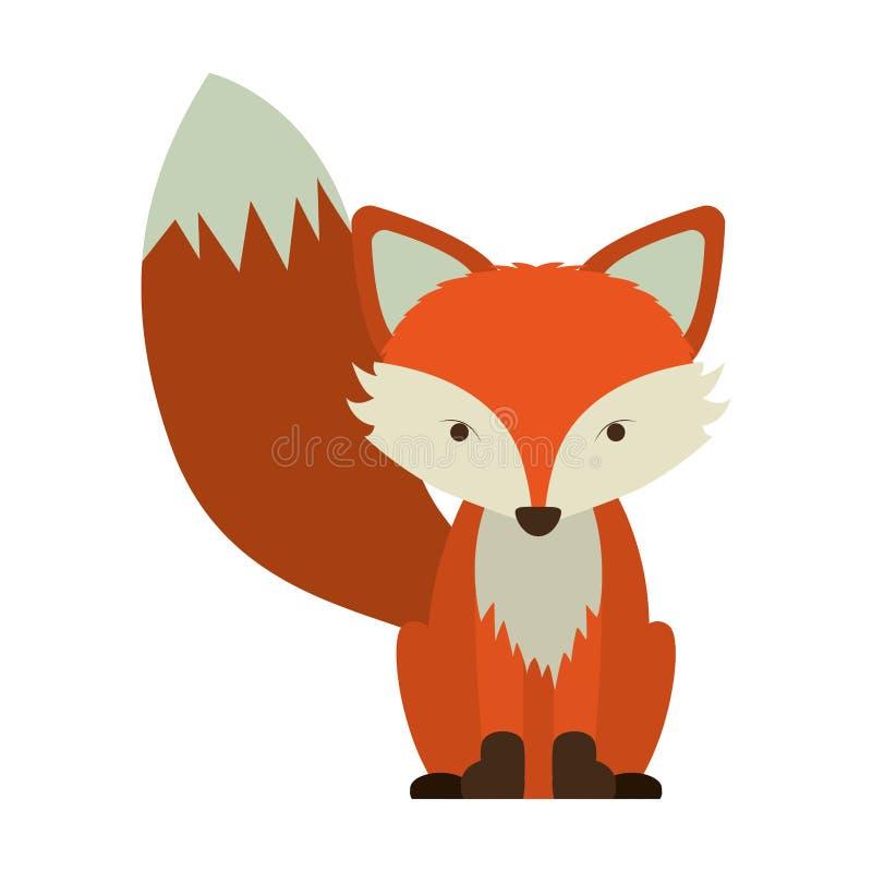 Icona della volpe del fumetto royalty illustrazione gratis