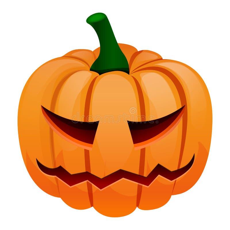 Icona della zucca di Halloween, stile del fumetto illustrazione vettoriale