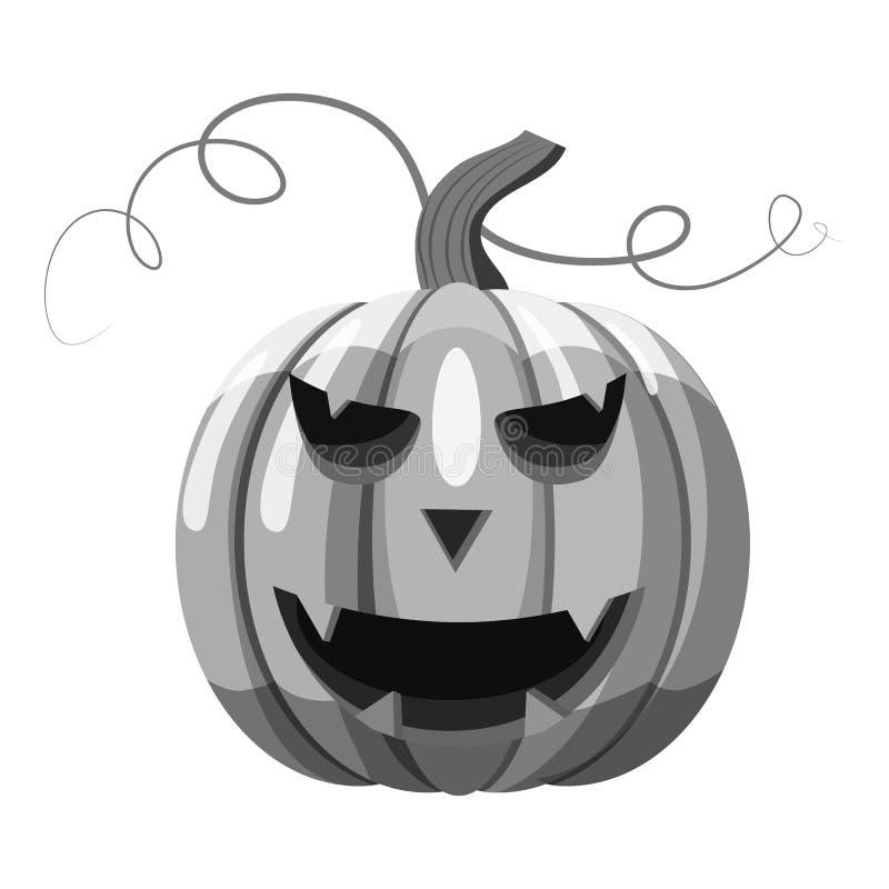 Icona della zucca di Halloween, stile monocromatico grigio royalty illustrazione gratis