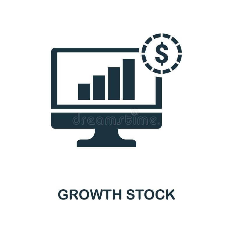 Icona delle azione di crescita Linea progettazione dell'icona di stile dalla raccolta dell'icona di finanza personale Ui Pittogra illustrazione di stock