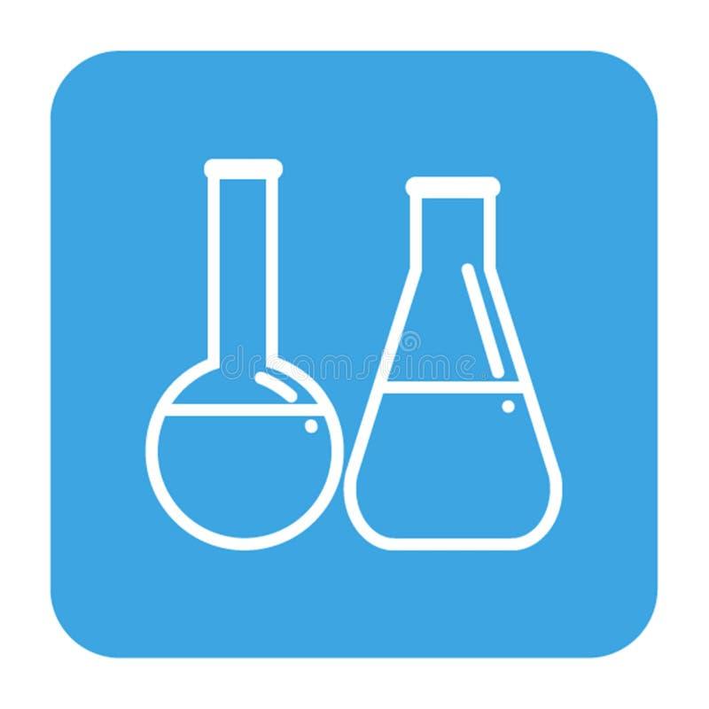 Icona delle boccette del laboratorio, stile semplice isolata per la clinica dell'odontoiatria Logo lineare del dentista royalty illustrazione gratis