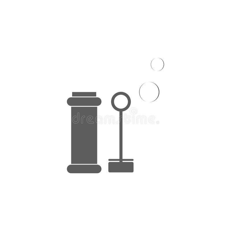 icona delle bolle di sapone del giocattolo Elemento dei giocattoli per i apps mobili di web e di concetto Icona per progettazione illustrazione vettoriale