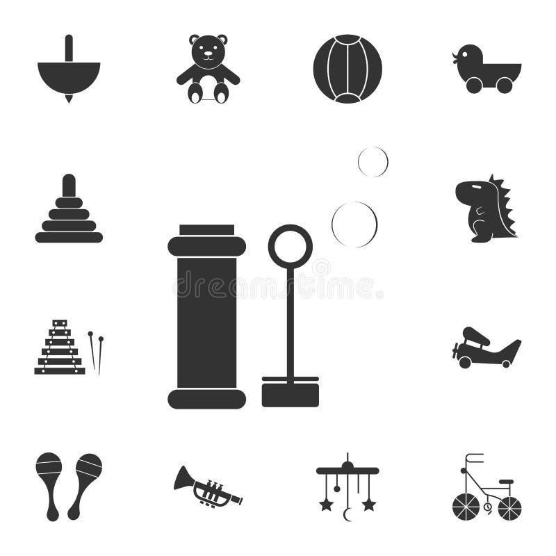 icona delle bolle di sapone del giocattolo Insieme dettagliato dell'icona dei giocattoli Progettazione grafica premio Una delle i royalty illustrazione gratis