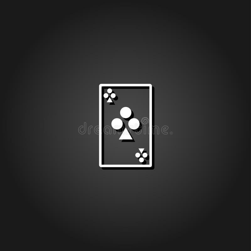 Icona delle carte da gioco piana illustrazione vettoriale