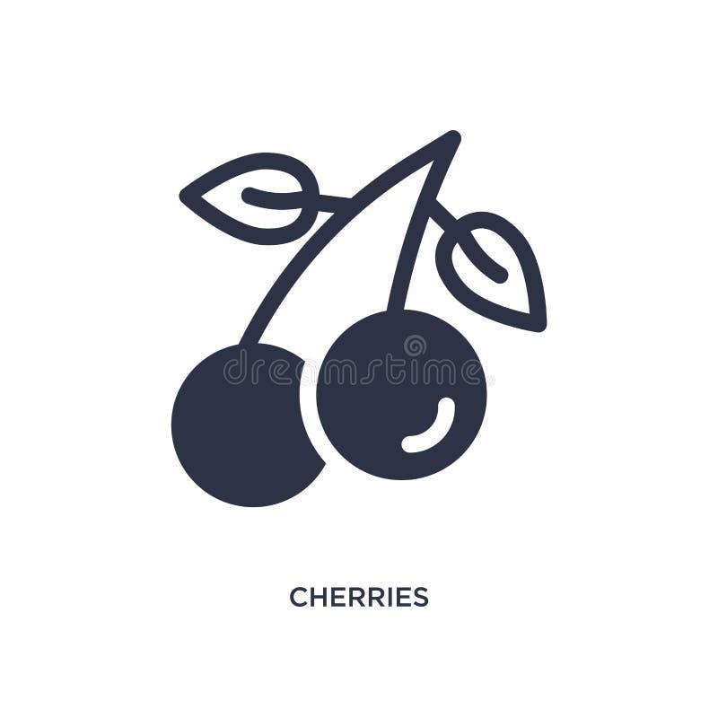 icona delle ciliege su fondo bianco Illustrazione semplice dell'elemento dal concetto di estate royalty illustrazione gratis