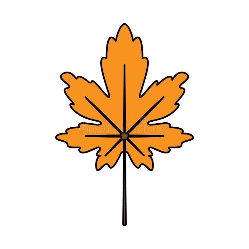 Icona delle foglie di autunno illustrazione di stock