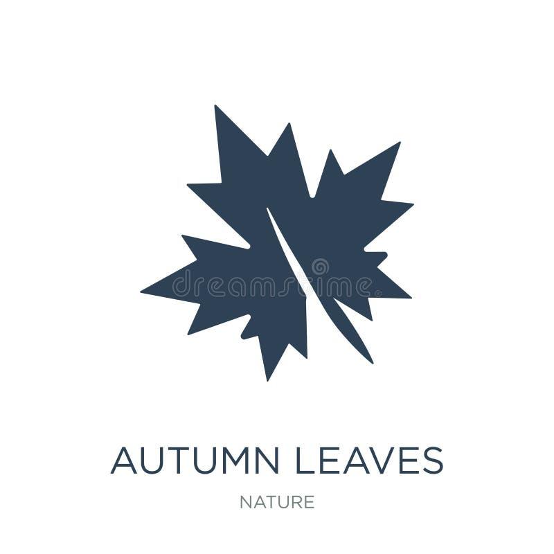 icona delle foglie di autunno nello stile d'avanguardia di progettazione l'autunno lascia l'icona isolata su fondo bianco icona d royalty illustrazione gratis