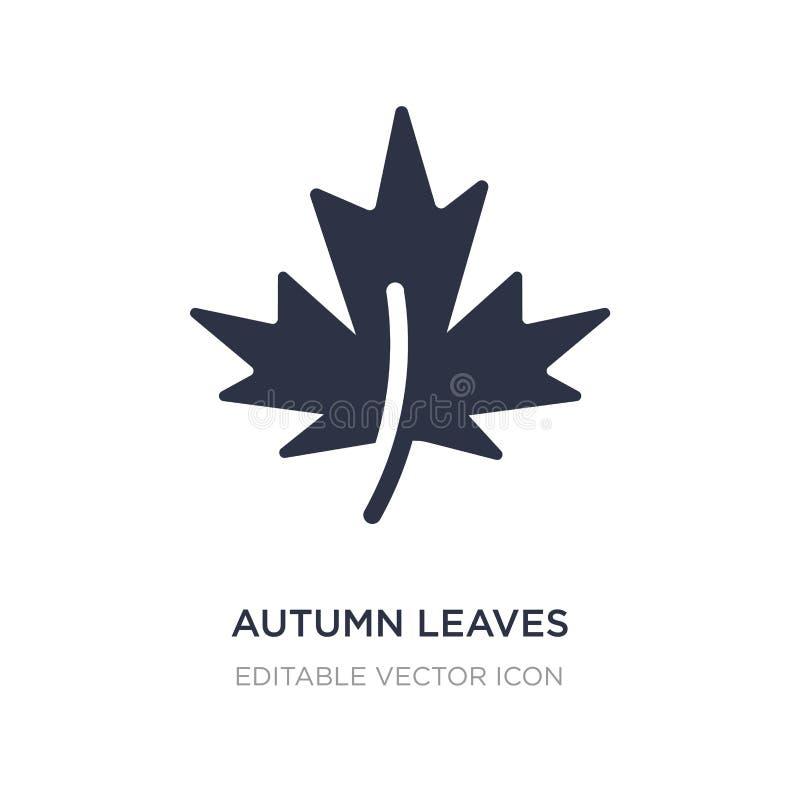 icona delle foglie di autunno su fondo bianco Illustrazione semplice dell'elemento dal concetto della natura illustrazione di stock