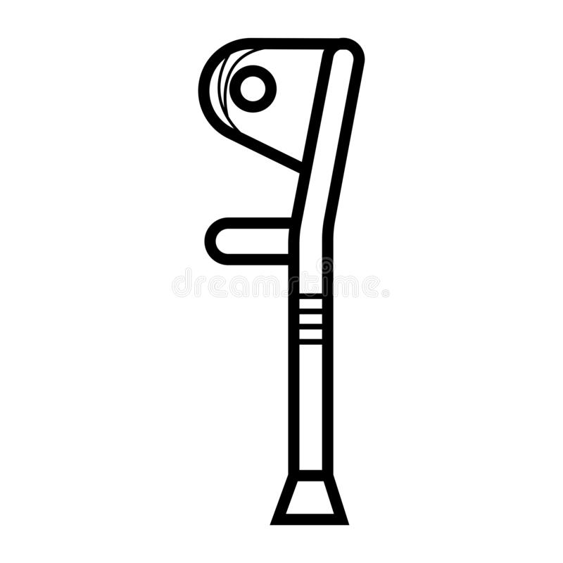 Icona delle grucce o della gruccia illustrazione vettoriale