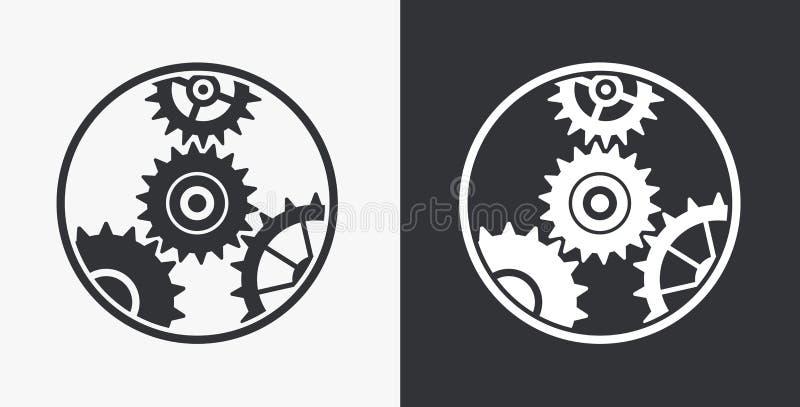 Icona delle icone delle regolazioni illustrazione vettoriale