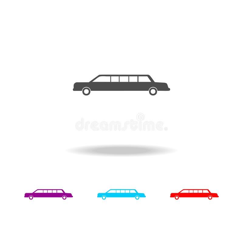 icona delle limousine dell'automobile Elementi delle automobili nelle multi icone colorate Icona premio di progettazione grafica  illustrazione vettoriale