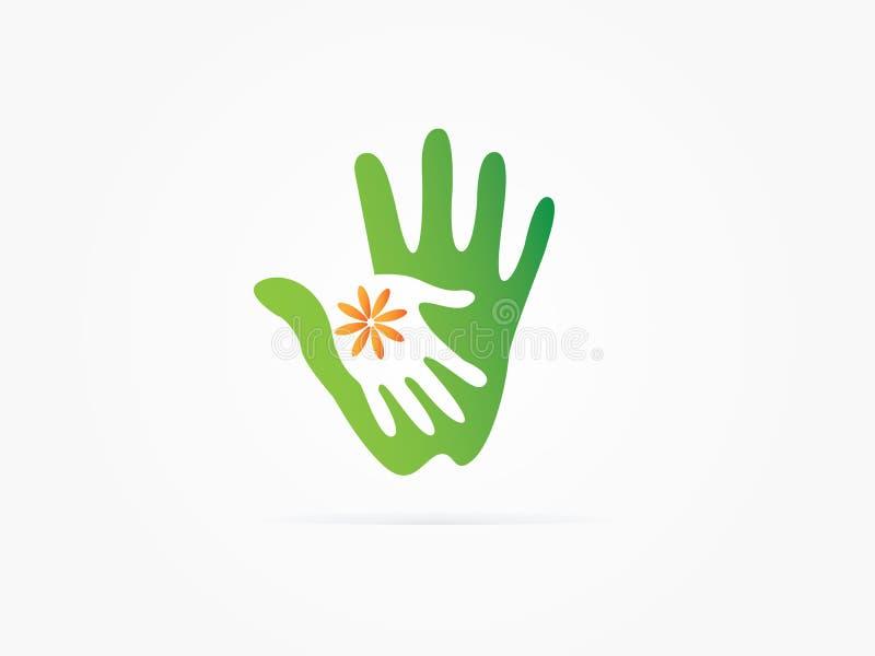Icona delle mani amiche dell'illustrazione di vettore illustrazione vettoriale
