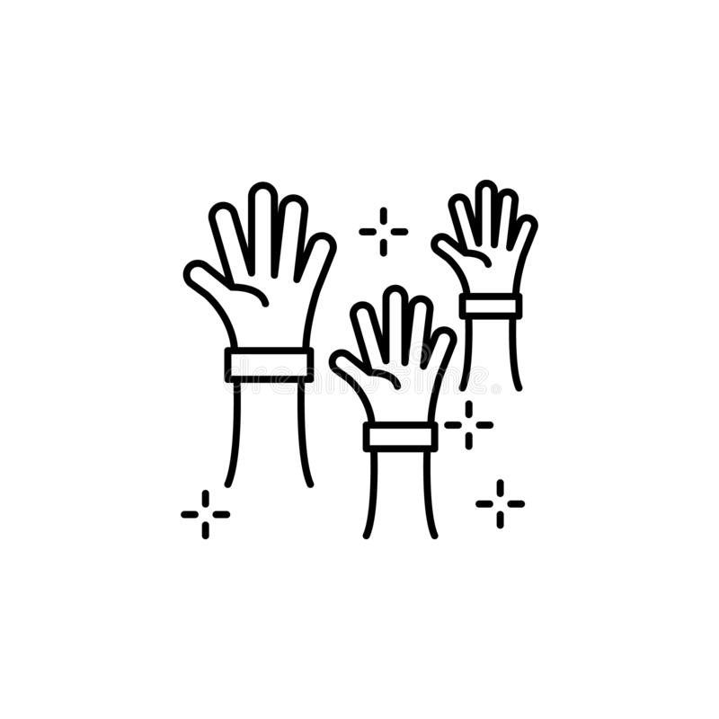 Icona delle mani dei volontari Elemento dell'icona di nessuna organizzazione governativa royalty illustrazione gratis